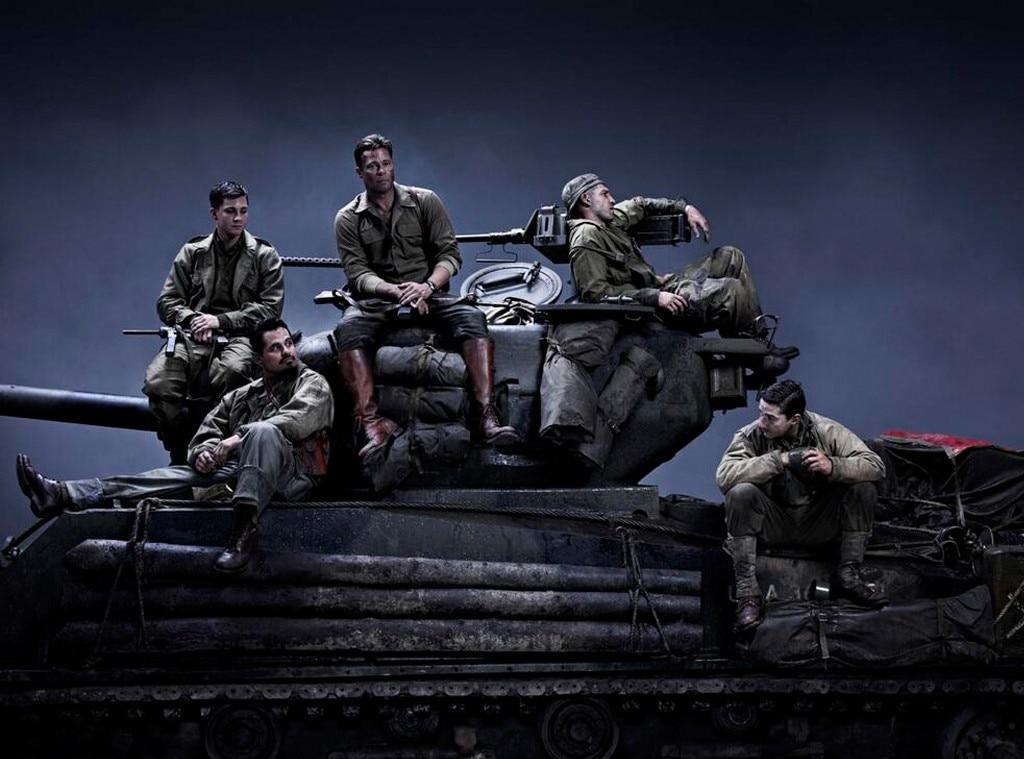 Brad Pitt, Shia LaBeouf, Fury