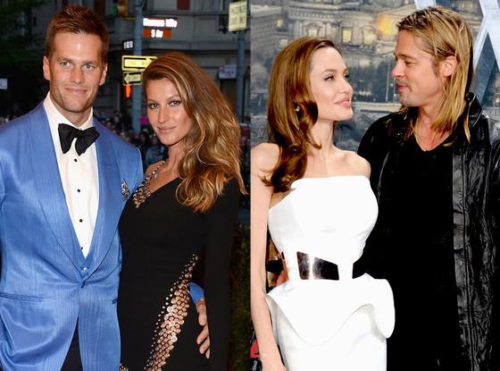 Tom Brady, Gisele Bundchen, Angelina Jolie, Brad Pitt