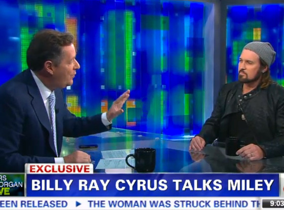 Billy Ray Cyrus, Piers Morgan