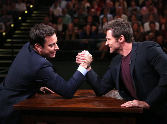 Jimmy Fallon, Hugh Jackman, LATE NIGHT WITH JIMMY FALLON
