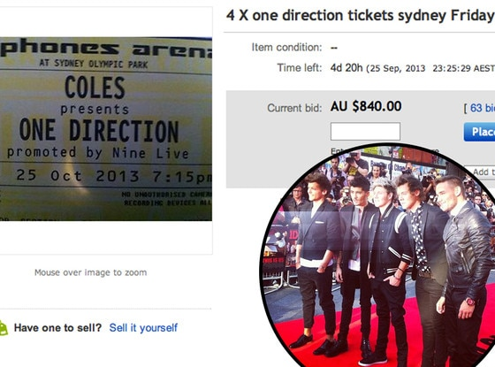 One Direction, Tickets