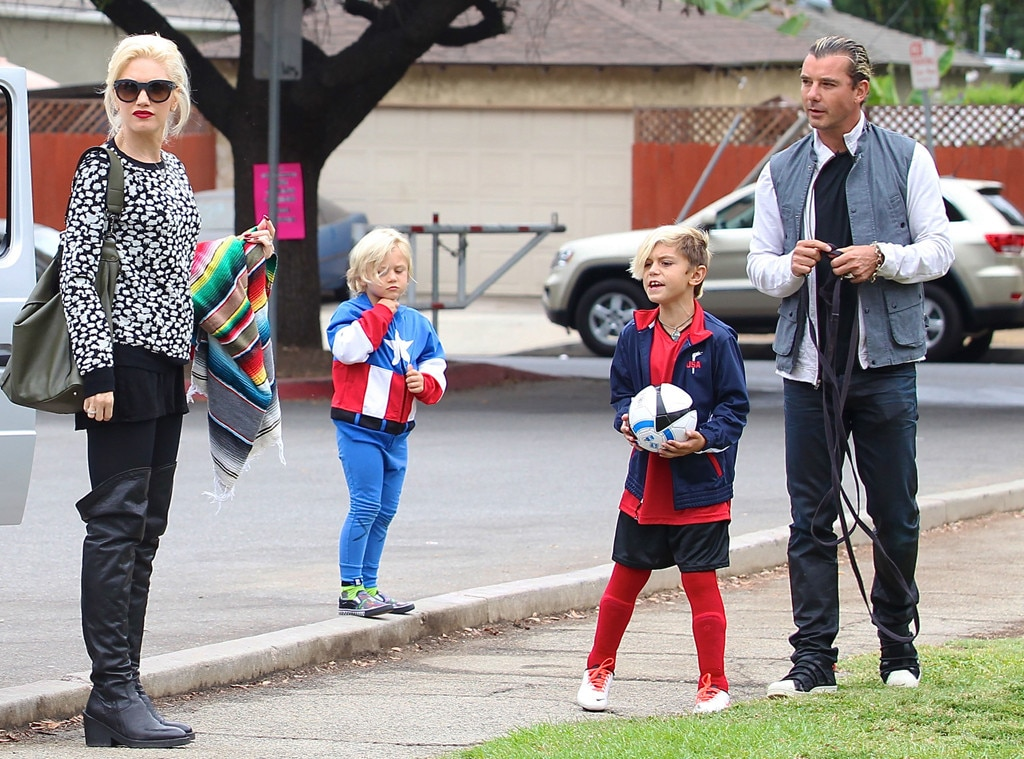 Gwen Stefani, Gavin Rossdale, Kingston and Zuma