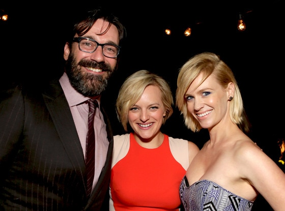 Jon Hamm, Elisabeth Moss and January Jones