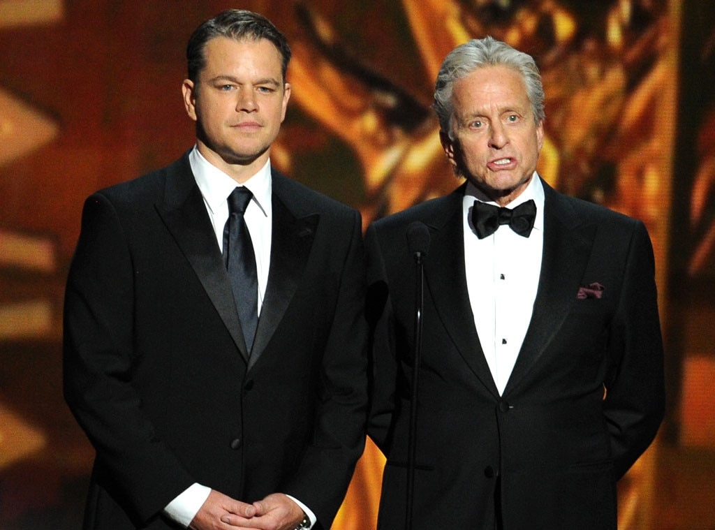 Emmy Awards Show, Matt Damon, Michael Douglas
