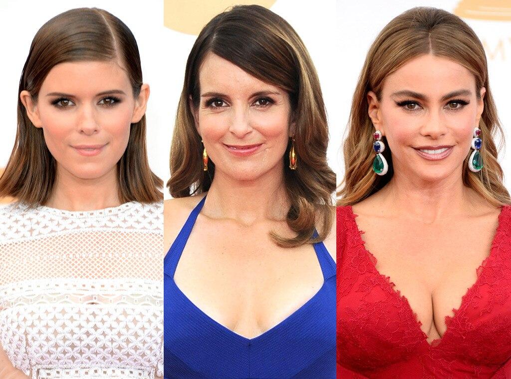 Tucked Back Hair, Tina Fey, Kate Mara, Sofia Vergara, Emmy Awards