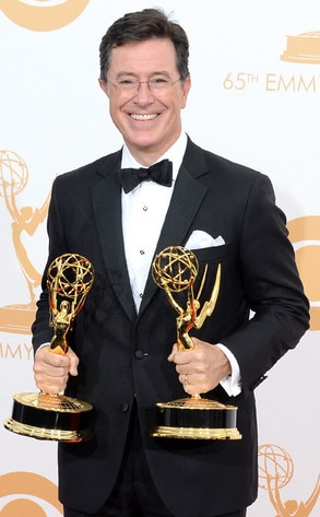 Stephen Colbert, Emmy Awards Press Room