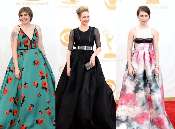 Lena Dunham, Vera Farmiga, Zosia Mamet, Emmy Awards, 2013, Worst Dressed
