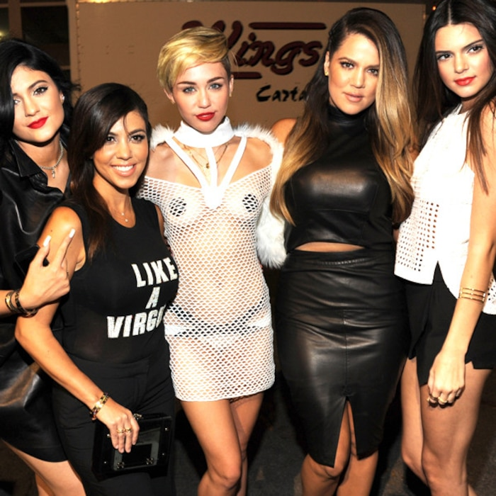 Kylie Jenner, Kourtney Kardashian, Miley Cyrus, Khloe Kardashian Odom and Kendall Jenner