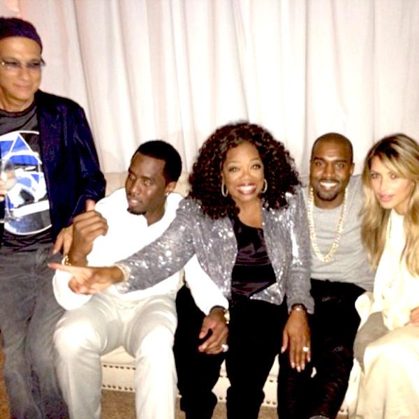 Kim Kardashian, Jimmy Lovine, Oprah, Kanye West