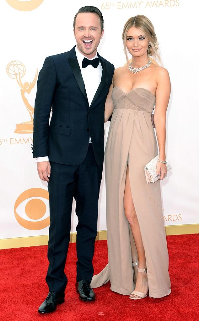 Aaron Paul, Lauren Parsekian, Emmy Awards, 2013