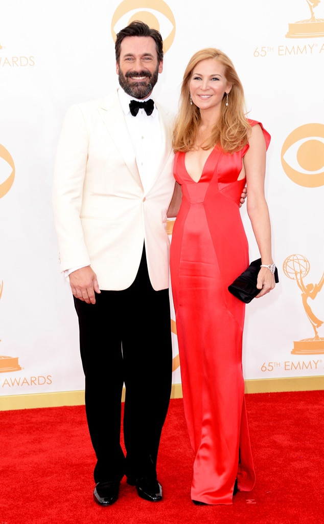 Jon Hamm, Jennifer Westfeldt, Emmy Awards, 2013