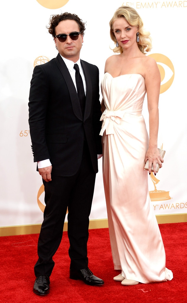 Johnny Galecki, Kelli Garner, Emmy Awards, 2013