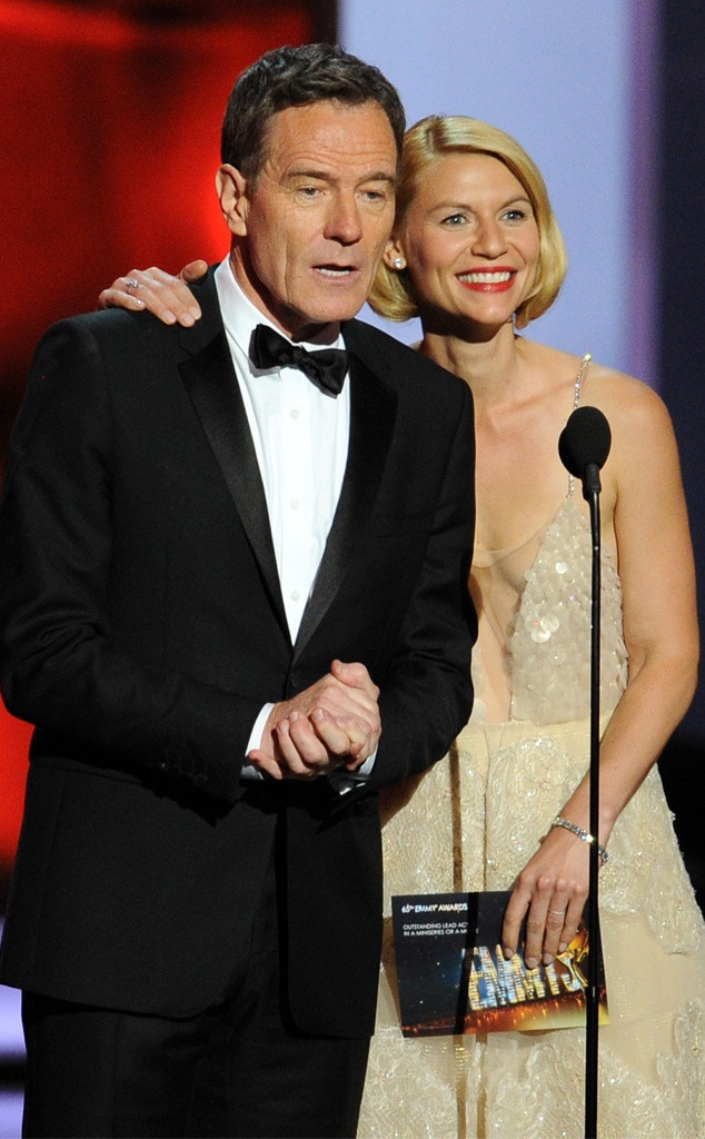 Bryan Cranston, Claire Danes, Emmy Awards Show
