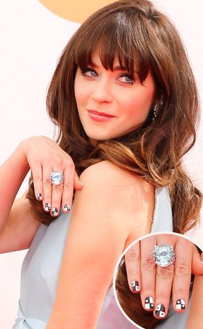 Zooey Deschanel, Emmy Awards 2013, manicure