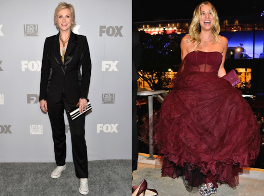 Jane Lynch, Kaley Cuoco, Emmys