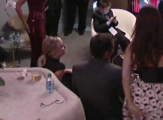 Amy Poehler, Will Arnett, Backstage Emmy awards