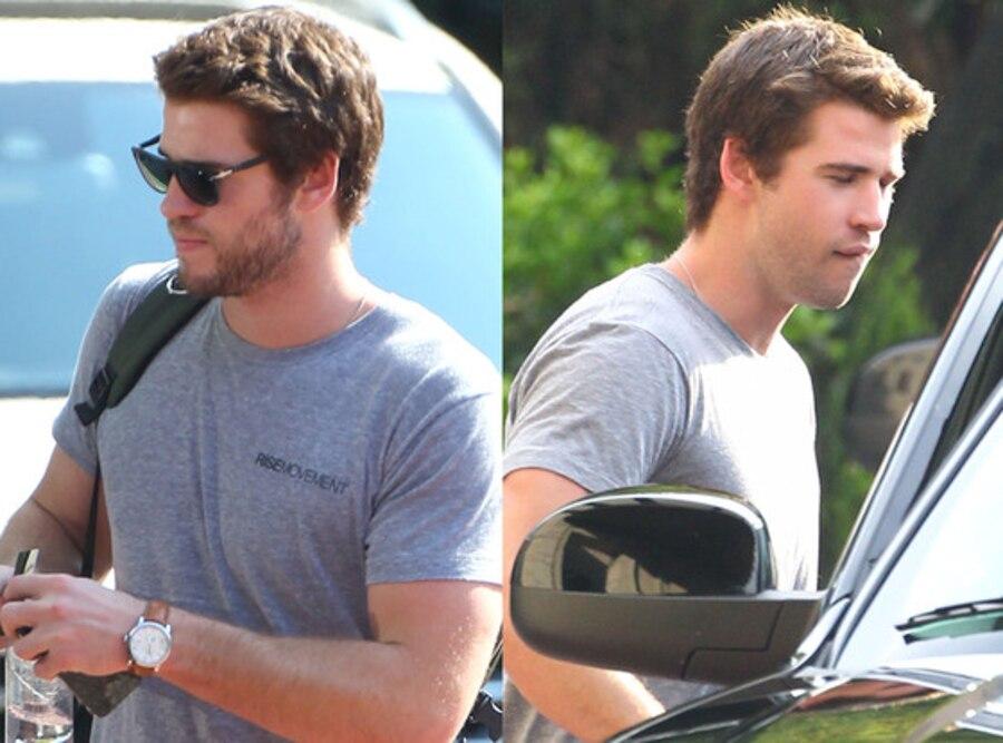 Liam Hemsworth, Hunger Games Set