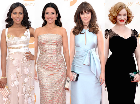 Edie Parker, Kerry Washington, Julia Louis Dreyfus, Zooey Deschanel, Christina Hendricks