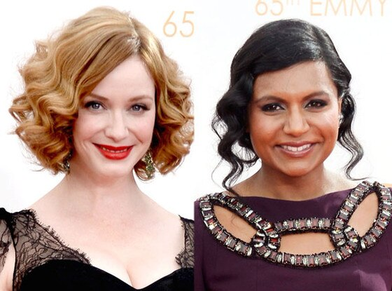 Christina Hendricks, Mindy Kaling, Emmy Awards, 2013