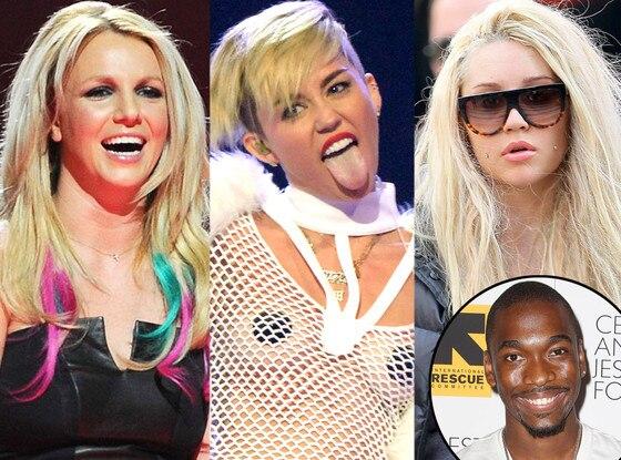 Britney Spears, Miley Cyrus, Amanda Bynes, Jay Pharoah