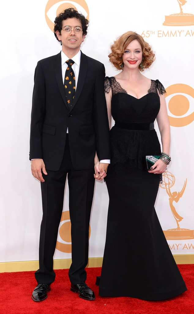 Christina Hendricks, Geoffrey Arend, Emmy Awards, 2013