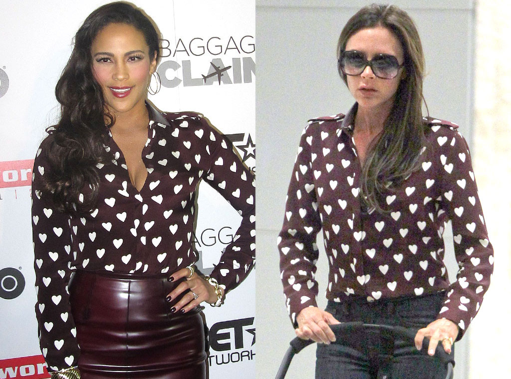 Paula Patton, Victoria Beckham, Burberry Heart Shirt