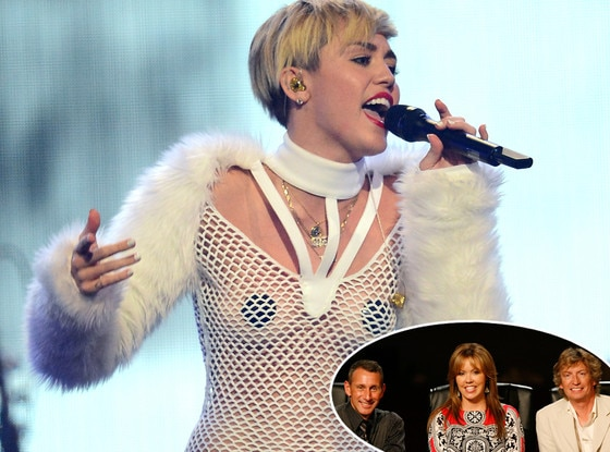 Miley Cyrus,  Adam Shankman, Mary Murphy and Nigel Lythgoe, SO YOU THINK YOU CAN DANCE