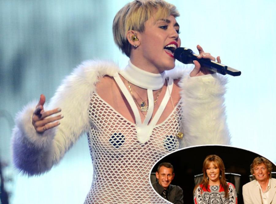 Miley Cyrus,  Adam Shankman, Mary Murphy and Nigel Lythgoe, SO YOU THINK YOU CAN DANCE