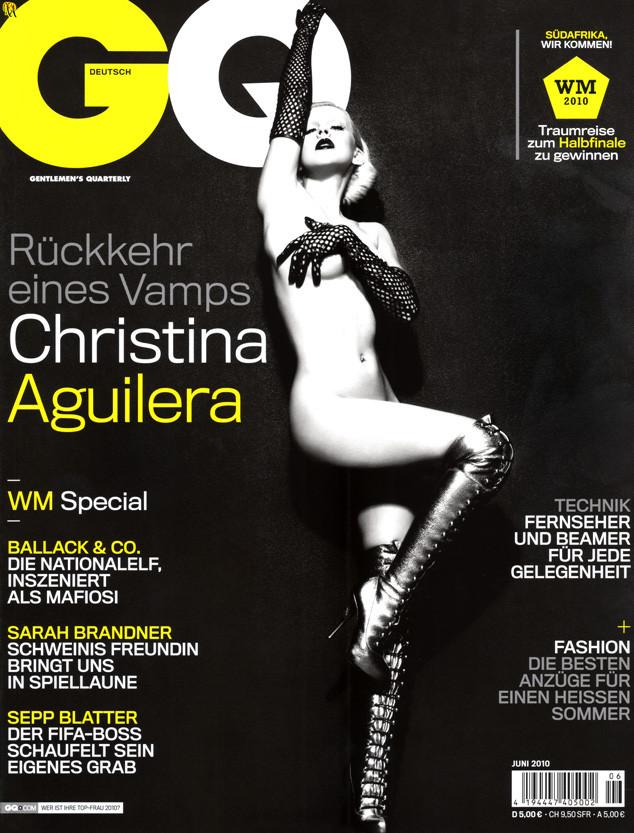 Christina Aguilera, GQ Germany from Stars Naked Magazine