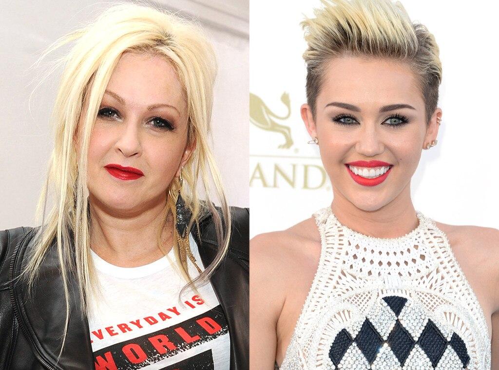 Cyndi Lauper, Miley Cyrus