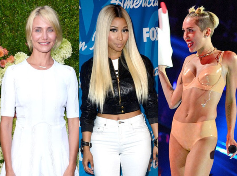Miley Cyrus, Nicki Minaj, Cameron Diaz