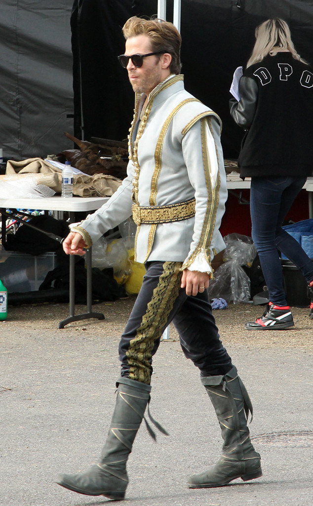Chris Pine, Into The Woods BTS