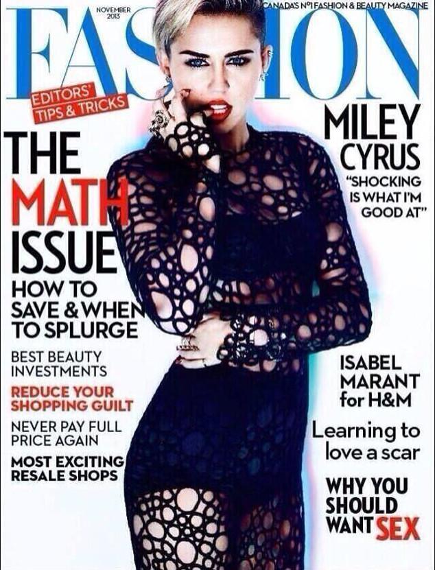 Miley Cyrus, Fashion Magazine