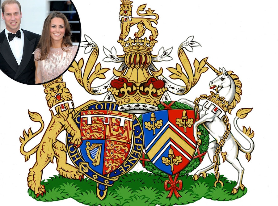 Conjugal Coat of Arms for Prince William, Duke of Cambridge, Catherine, Duchess of Cambridge