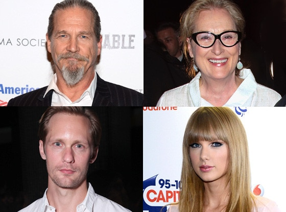 Meryl Streep, Jeff Bridges, Alexander Skarsgard, Taylor Swift