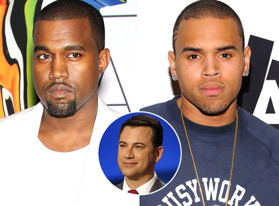 Kanye West, Chris Brown, Jimmy Kimmel
