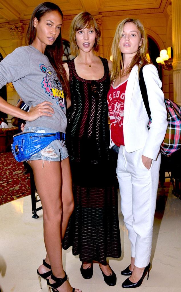 Joan Smalls, Karlie Kloss and Georgia Jagger