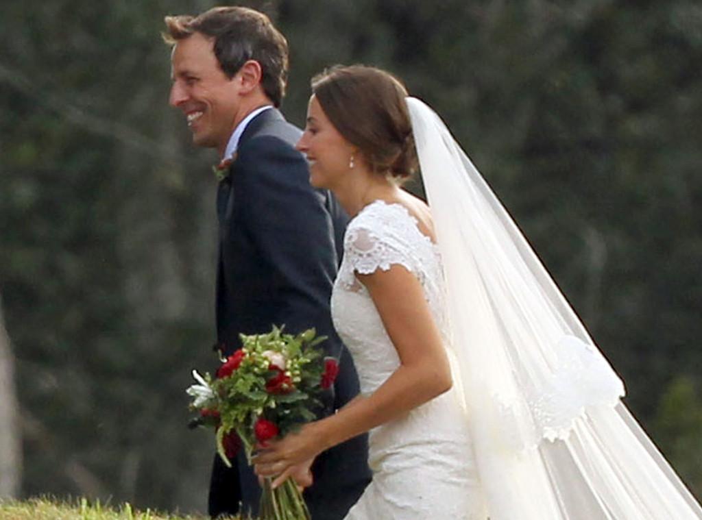 Seth Meyers, Alexi Ashe, Wedding