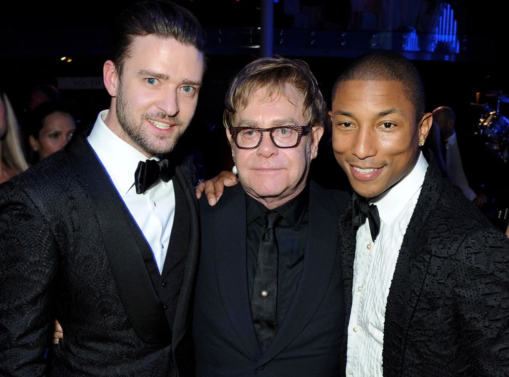 Justin Timberlake, Sir Elton John, Pharrell Williams, GQ Men of the Year Awards