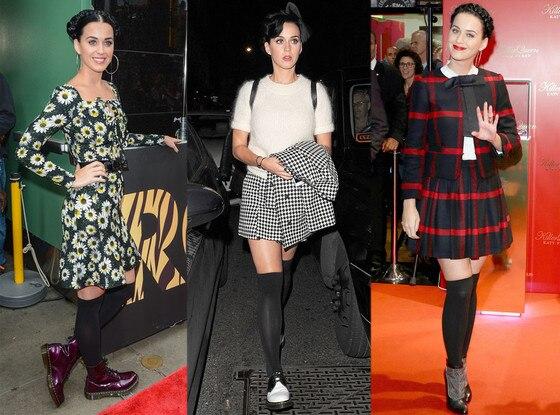 Katy Perry, Black Knee High Socks