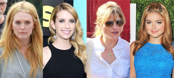 Blond celebs, Julianne Moore, Emma Roberts, Ariel Winter, Selma Blair