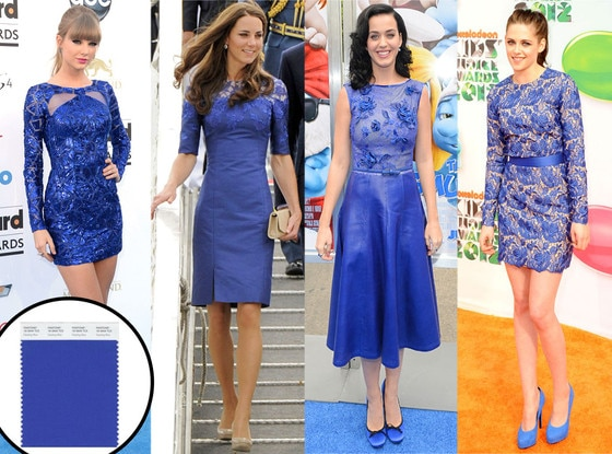 Dazzling Blue Pantone, Taylor Swift, Kate Middleton, Katy Perry, Kristen Stewart
