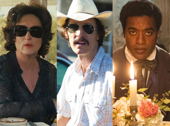 Meryl Streep, August: Osage County, McConaughey, Dallas Buyers Club, Chiwetel Chiwetel Ejiofor, 12 Years a Slave