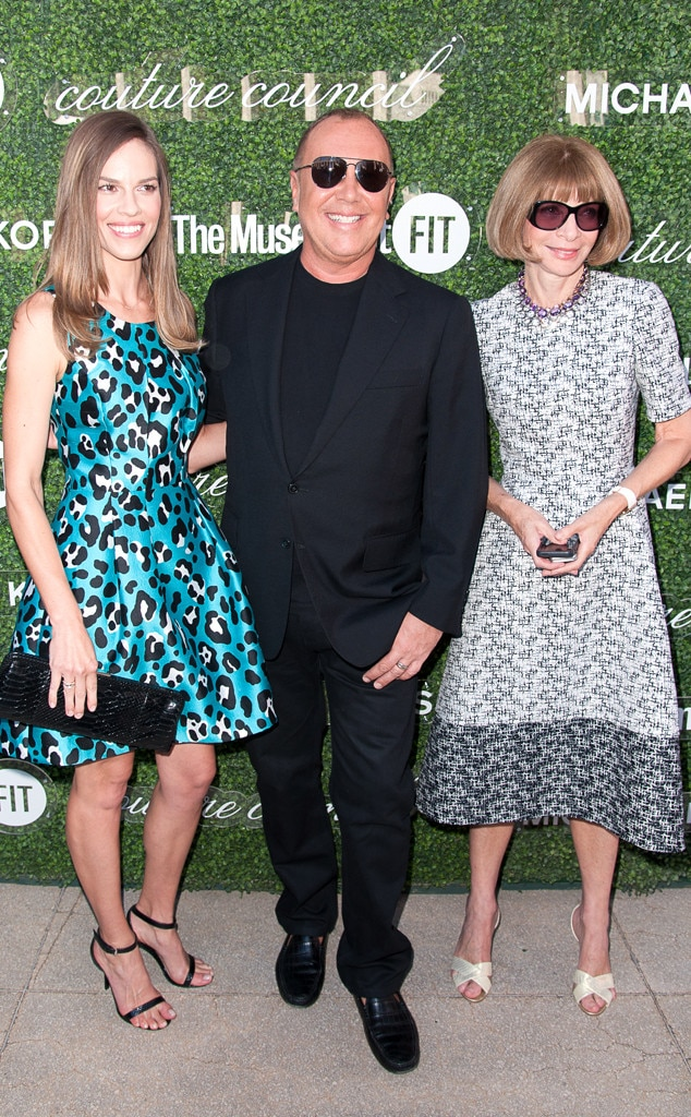 Hilary Swank, Michael Kors, Anna Wintour