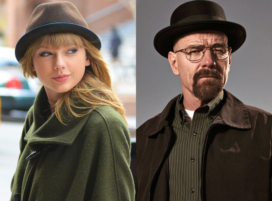 Taylor Swift, Breaking Bad, Bryan Cranston, Walter White