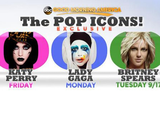 Katy Perry, Britney Spears, Lady Gaga, Pop Icons