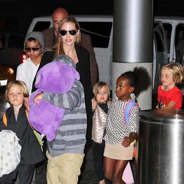 Angelina Jolie, Maddox, Pax, Zahara, Shiloh, Vivienne, Knox