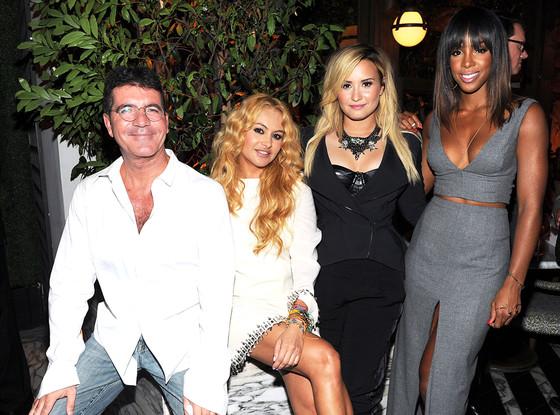 Simon Cowell, Paulina Rubio, Demi Lovato, Kelly Rowland, X Factor
