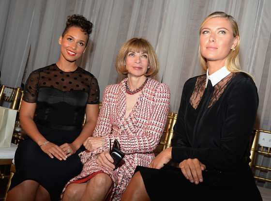 Alicia Keys, Anna Wintour, Maria Sharapova, Fashion Week