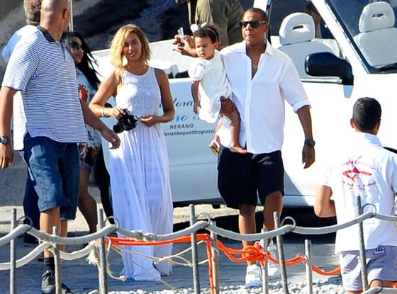 Beyonce, Jay-Z, Blue Ivy, Italy